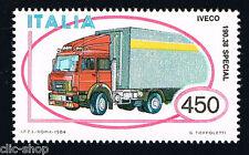 ITALIA IL FRANCOBOLLO MACCHINA AUTOTRENO IVECO AUTO 1984 nuovo**