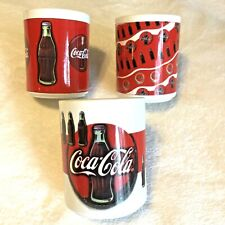 Vintage Coca Cola Coffee Mugs Cups by Gibson 1997 Lot of 3