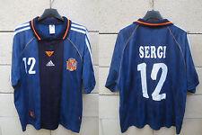 Maillot ESPAGNE vintage ADIDAS ESPANA SPAIN camiseta SERGI n°12 away shirt L