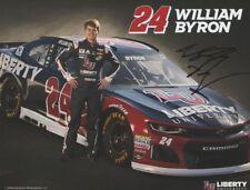 2018 William Byron signed Liberty University Chevy Camaro NASCAR MENCS postcard