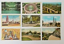 LOT OF 9 PITTSBURGH PENNSYLVANIA PA POSTCARDS - PITT STADIUM - AIRPORT -  ETC
