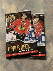 14-15 Upper Deck Series 1 Packs X 2