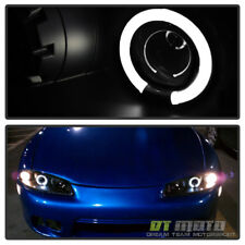 Blk 1997-1999 Mitsubishi Eclipse Halo Projector Headlights Lamps Pair Left+Right