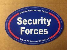 UNITED STATES AIR FORCE S.F. B.A.B  AFGHANISTAN Bumper Sticker - 4 3/4 Inch OVAL