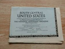 national geographic map 1947 South Central US