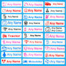 4 Pairs Character Personalised Shoe Labels For Shoes With Over Labels