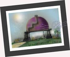 Purple Bubble Water Tank ORIGINAL AIR BRUSH PAINTING print Surrealist Fantasy