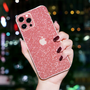 For iPhone 12 11 Pro Max Diamond Back Cover Protector Glitter Protective film