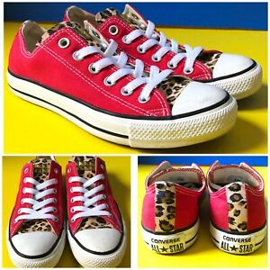 Converse all star chuck Sneakers canvas shoes sz men's 6 women's 8 animal print