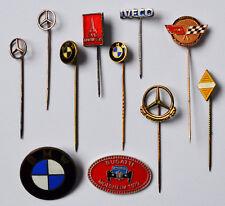 11 alte Anstecknadeln Krawattennadeln Pins Emaille Automarken BMW Mercedes