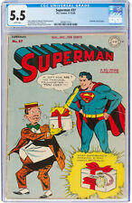 Superman #37 CGC 5.5 DC 1945 Prankster Cover! White Pages! Action! K10 212 1 cm