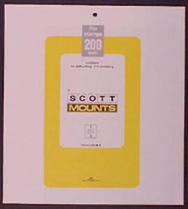 Scott/Prinz Pre-Cut Souvenir Sheets Small Panes Stamp Mounts 275x200 #1010 Black