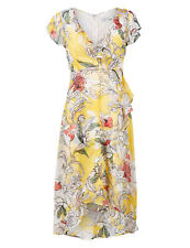 Ex Marks and Spencer Per Una Floral Print Short Sleeve Midi Dress Size 12 - 22