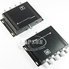 4 CH Channels Video Coaxial Multiplexer Transmitter + Receiver For CCTV Camera