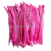 """pcs. 8-10/"""" half bronze hot pink schlappen coque rooster tail feathers 16g 80"""
