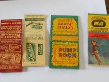 waukjesha milwaukee baraboo , dainte ice cream girl matchbooks 1940's