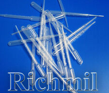 500 New 3ml Pipettes / Droppers, Graduated 0.5ml, *UK*