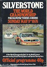 Silverstone 6 Hour Race 1976 Programme