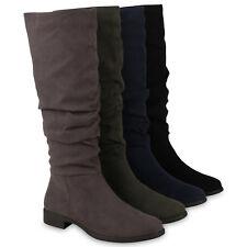 Klassische Damen Stiefel Boots Freizeit 895835 Schuhe