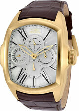 Invicta Men's Lupah Chronograph 100m Stainless Steel Brown Leather Watch 18899