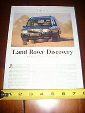 1994 LAND ROVER DISCOVERY - ORIGINAL ARTICLE
