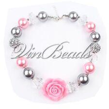 Acrylic Chunky Beads Bubblegum Gumball Jewlery Pendant Christmas Girls Necklace3