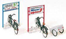 Figuren Preiser H0 (17163): Fahradständer und Fahrräder