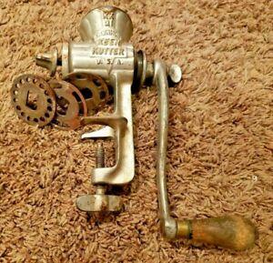 """1906 Pat. """"KEEN KUTTER"""" USA E.C.Simmons (KK21) meat grinder Z1"""