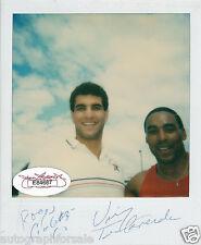 Roger Craig & Vinny Testaverde signed auto autographed Polaroid photo (JSA)