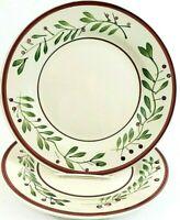 "Royal Norfolk Dinner Plates 10 1/2"" Set Of 2 Holly Berries Design NWOT"