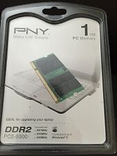 NEW PNY 1GB DDR2 667 MHz PC2-5300 Notebook / Laptop SODIMM Memory MN1024SD2-667