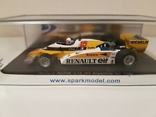 Spark 1/43 F1 Renault RE20B n.15 3rd Argentina Gp 1981 Alain Prost S3851