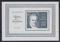 DDR Block 33 **, 200. Todestag Ludwig van Beethoven 1970, postfrisch, MNH