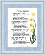 DAFFODILS- Calligraphy Print of the famous poem by William Wordsworth