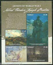 TUVALU 2015 ARTISTS OF WORLD WAR I ALFRED THEODORE BASTIEN  SHEET MINT NH