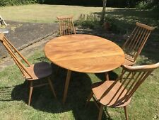 ercol dining table and 4 chairs To Refurb Collect Surrey