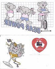 Vintage iron on transfers koala i love Australia 1980's x3 bear power