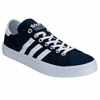 Mens adidas Originals Mens Courtvantage Canvas Low Profile Trainers in Navy Blue