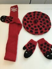 Oeufnyc hat and glove set - ladybird RRP £99