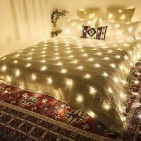LED String Fairy Lights Net Mesh Curtain Xmas Wedding Party Christmas Decor 110V