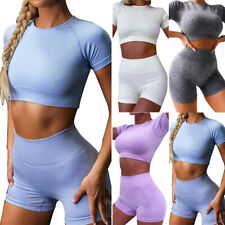 Women Tracksuit Sports Tops Cycling Gym Shorts Running Casual Summer Co Ord Set