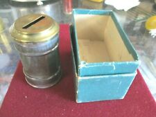 Vintage Large Brass Top Devils Coin Box