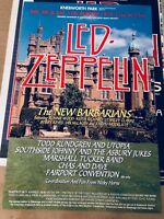 LED ZEPPELIN poster 65 x 70 cm limited edition signed by BANNISTER KNEBWORTH 79
