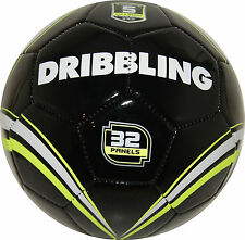 Soccer ball DRIBBLING TEAM - Size 5 - Official size and weight - Black