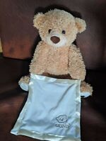 Baby GUND Teddy Bear PEEK A BOO Traditional Golden Brown Plush TOY Moves Sings