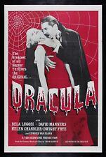DRACULA ✯ CineMasterpieces BLOOD RED HORROR VAMPIRE ORIGINAL MOVIE POSTER 1960'S