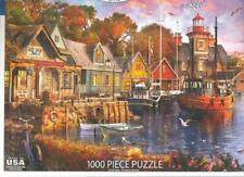 Dominic Davison White Mountain Jigsaw Puzzle Harbor Evening