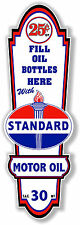 """24"""" X 8"""" STANDARD GASOLINE LUBSTER FRONT DECAL LUBESTER OIL CAN / GAS PUMP"""