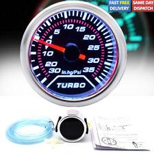 "52mm 2"" Car Turbo Boost Pressure Pointer Gauge Meter Dials LED Vacuum 35Psi UK"