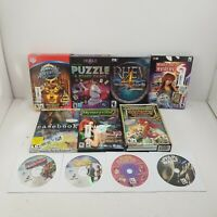 PC Game Lot of 11, Puzzle, Rhem 4, Mystery, Casebook, Mahjong, Clue, Amazon, SW